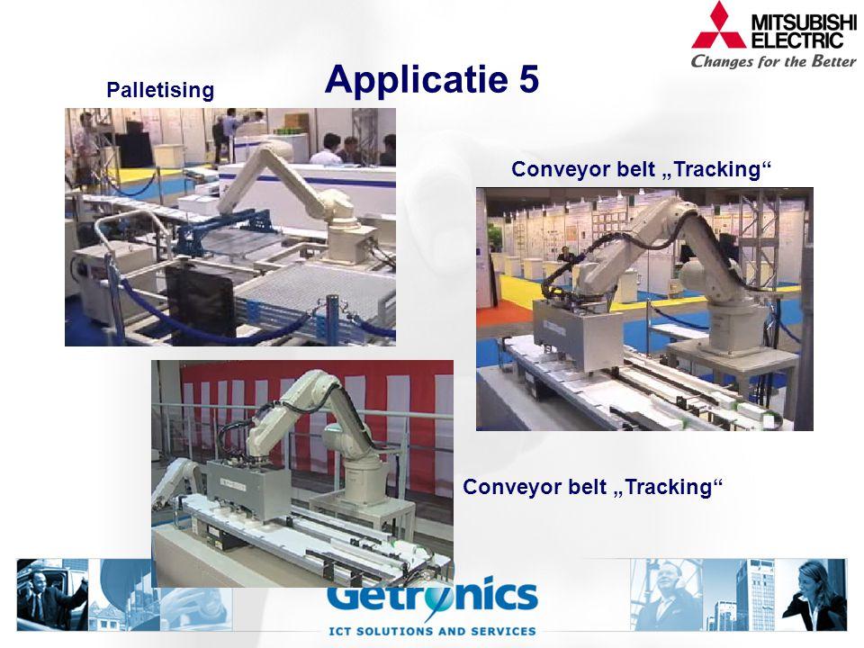"""Applicatie 5 Palletising Conveyor belt """"Tracking"""