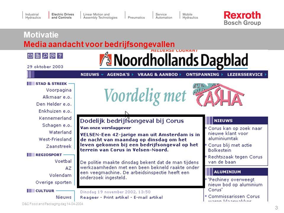 2 D&C Food and Packaging dag 14-04-2004 Nog veiliger verpakken Agenda  Motivatie (waarom nog veiliger).