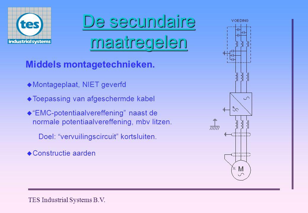 TES Industrial Systems B.V. De secundaire maatregelen Middels montagetechnieken.