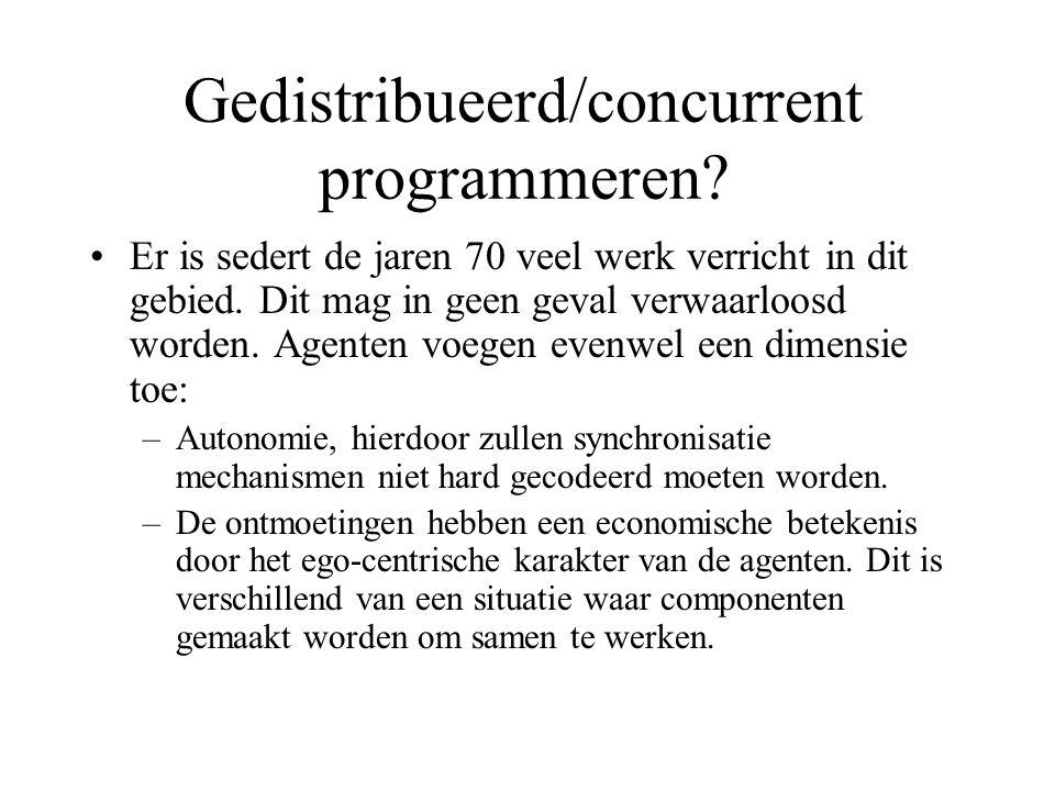 Gedistribueerd/concurrent programmeren. Er is sedert de jaren 70 veel werk verricht in dit gebied.