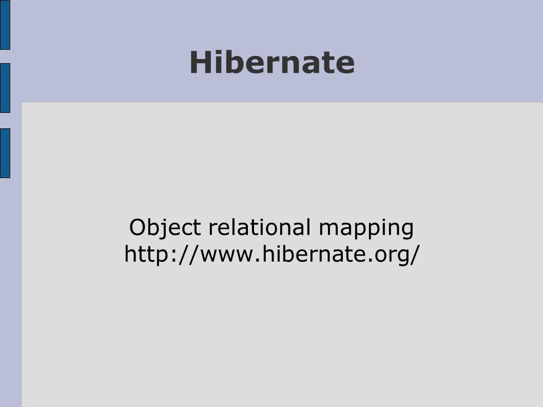 Hibernate Object relational mapping http://www.hibernate.org/