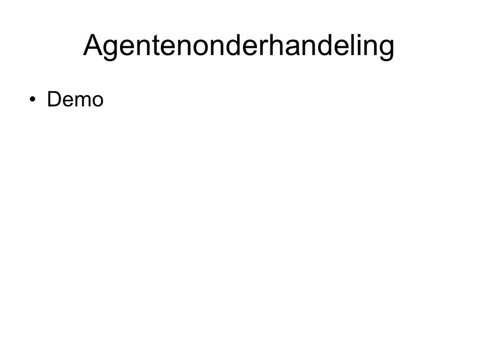 Agentenonderhandeling Demo