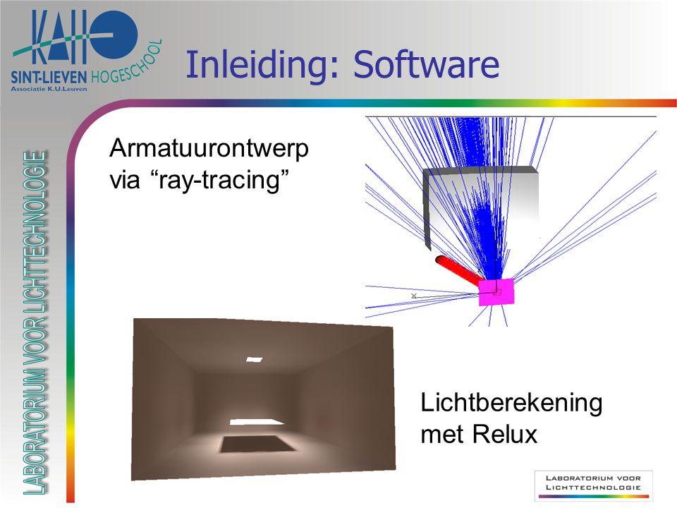 "Inleiding: Software Lichtberekening met Relux Armatuurontwerp via ""ray-tracing"""