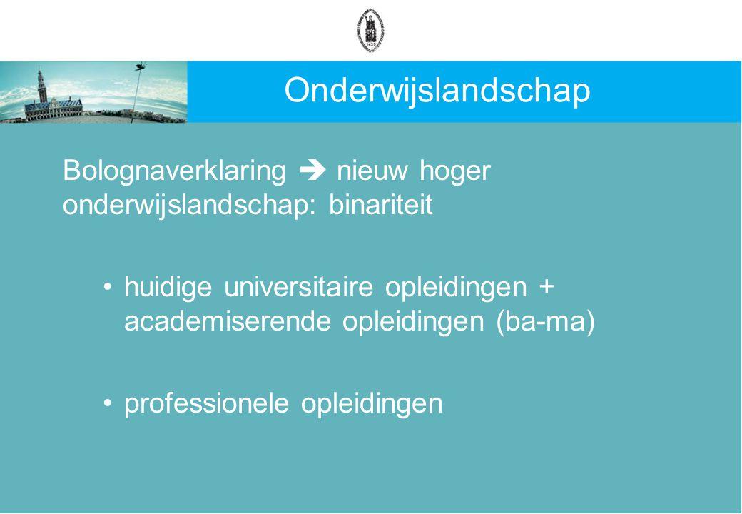 Kennis- en competentienetwerk Geacademiseerde opleidingen worden opgenomen in de universitaire structuur Dwarsverbanden tussen nieuwe universitaire opleidingen en professionele opleidingen worden versterkt