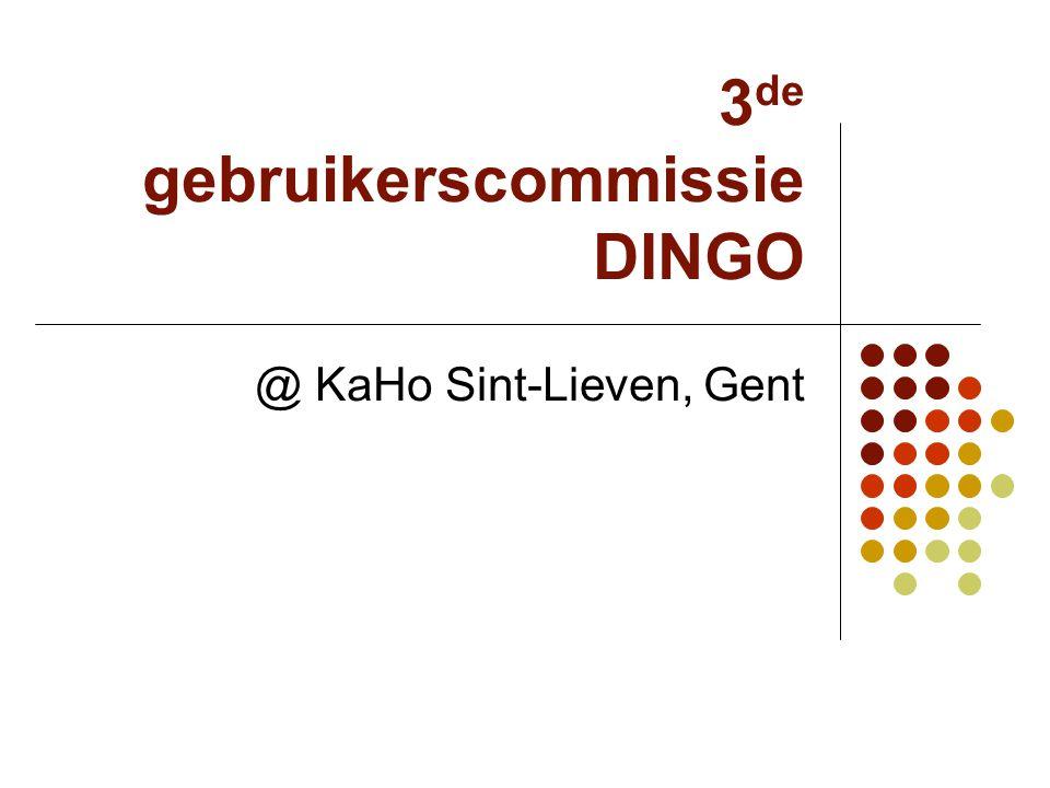 3 de gebruikerscommissie DINGO @ KaHo Sint-Lieven, Gent