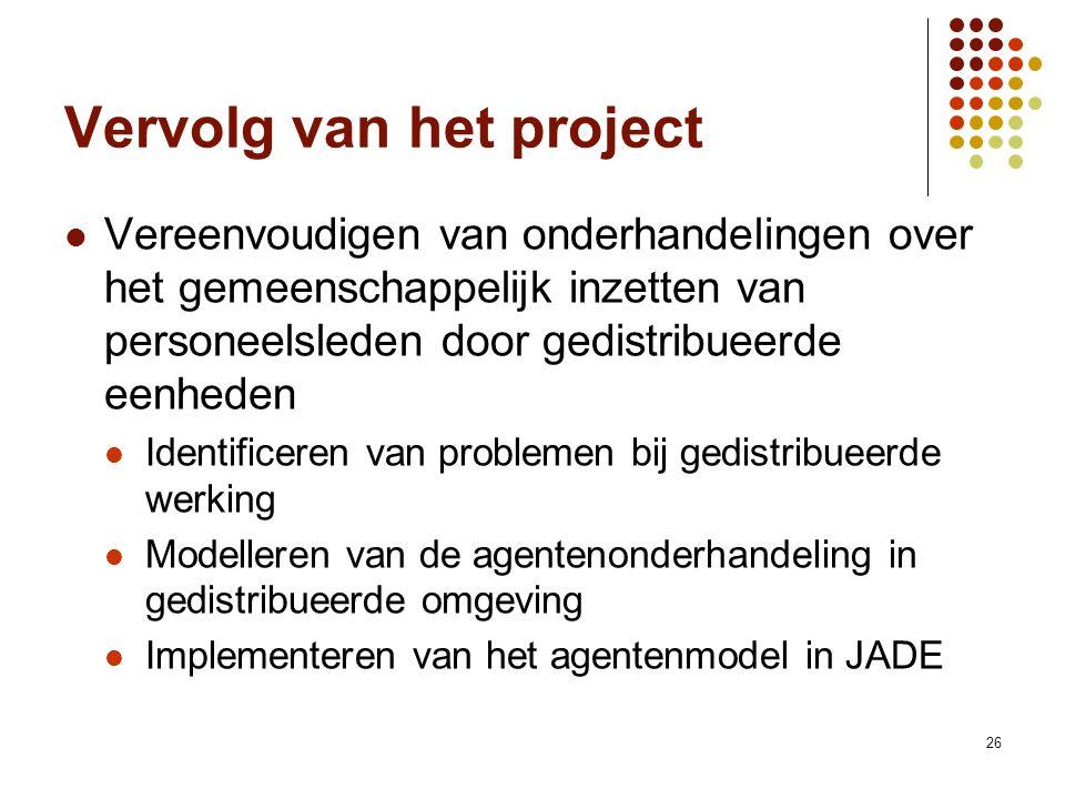 26 Vervolg van het project Vereenvoudigen van onderhandelingen over het gemeenschappelijk inzetten van personeelsleden door gedistribueerde eenheden I