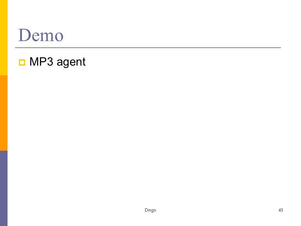 Dingo45 Demo  MP3 agent
