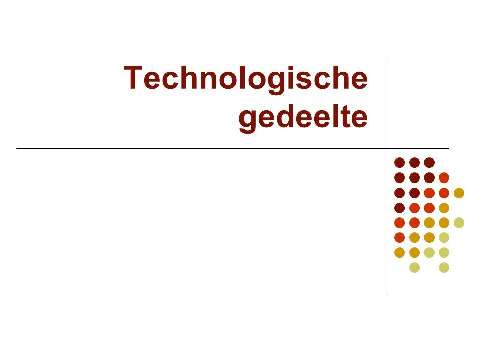 Technologische gedeelte