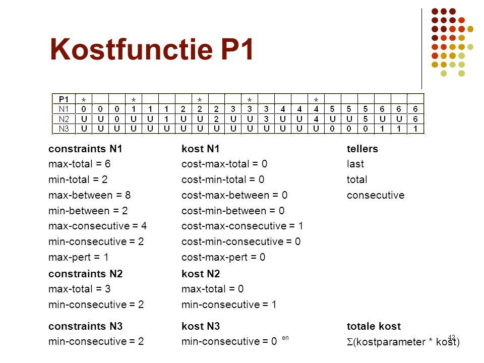 Vakgroep IT - KaHo Sint-Lieven42 constraints N1 max-total = 6 min-total = 2 max-between = 8 min-between = 2 max-consecutive = 4 min-consecutive = 2 ma