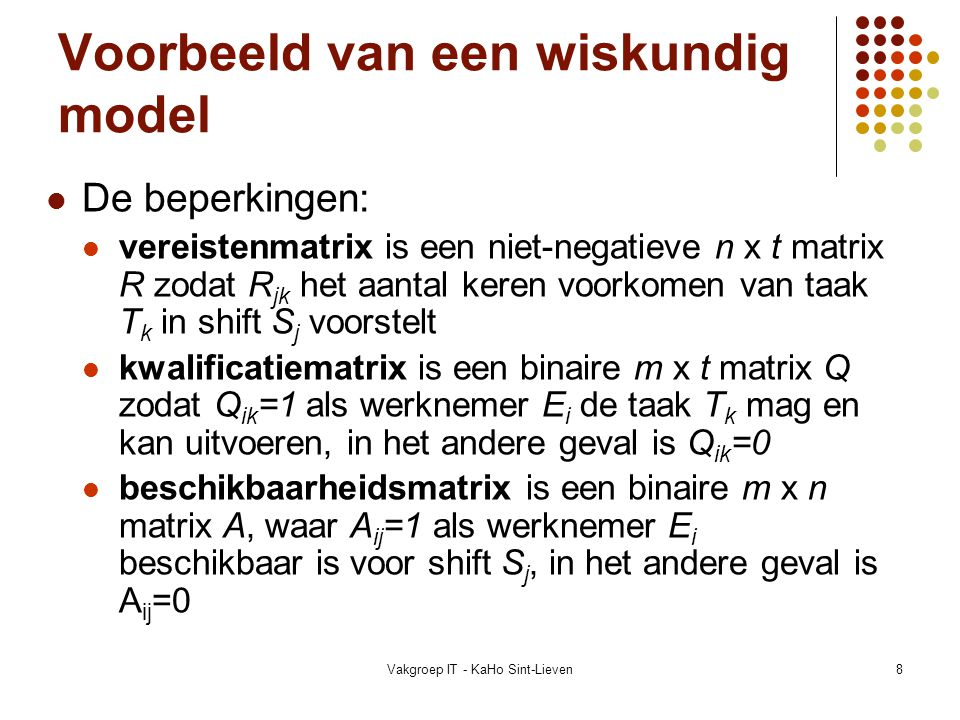 Vakgroep IT - KaHo Sint-Lieven69 Referenties Tabu search: F.