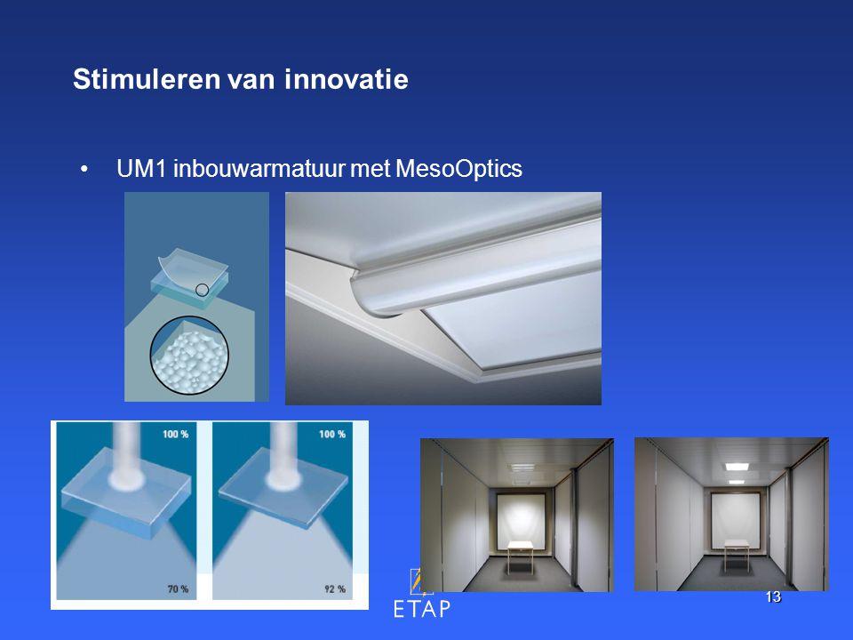 13 Stimuleren van innovatie UM1 inbouwarmatuur met MesoOptics