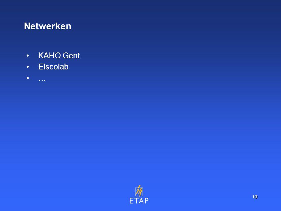 19 Netwerken KAHO Gent Elscolab …