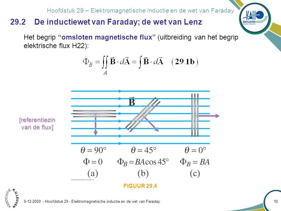 Hoofdstuk 29 – Elektromagnetische inductie en de wet van Faraday 6-12-2009 - Hoofdstuk 29 - Elektromagnetische inductie en de wet van Faraday 10 Het b