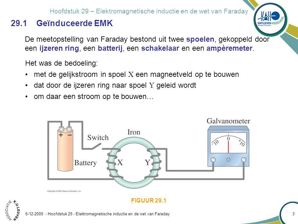 Hoofdstuk 29 – Elektromagnetische inductie en de wet van Faraday 6-12-2009 - Hoofdstuk 29 - Elektromagnetische inductie en de wet van Faraday 3 29.1 G