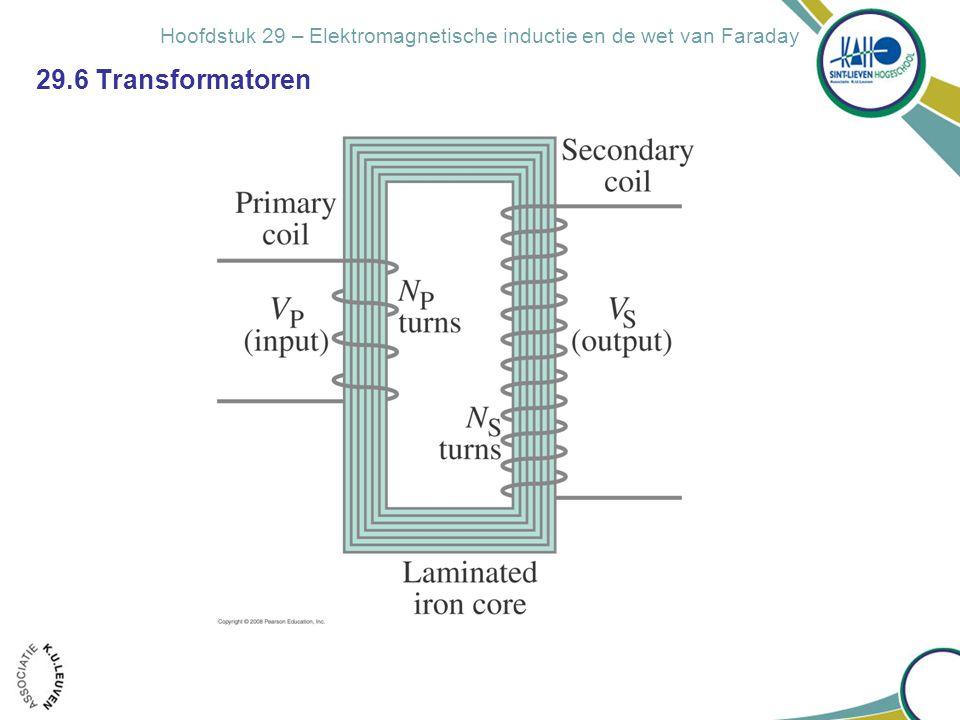 Hoofdstuk 29 – Elektromagnetische inductie en de wet van Faraday 29.6 Transformatoren