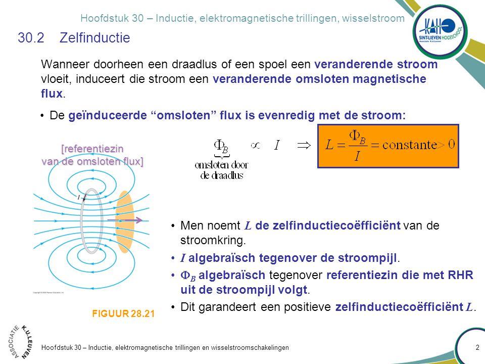Hoofdstuk 30 – Inductie, elektromagnetische trillingen, wisselstroom Hoofdstuk 30 – Inductie, elektromagnetische trillingen en wisselstroomschakelinge