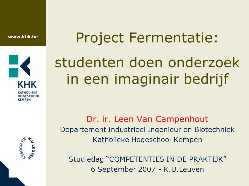 www.khk.be 32 Valkuilen  Studenten moeten er vatbaar voor zijn  Onderzoeksvragen moeten goed geformuleerd zijn: –creativiteit toelaten –toch afgebakend  Teveel improvisatie door studenten kan leiden tot ontsporing van project