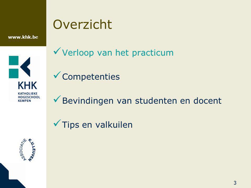www.khk.be 14 Verloop  Labodagen