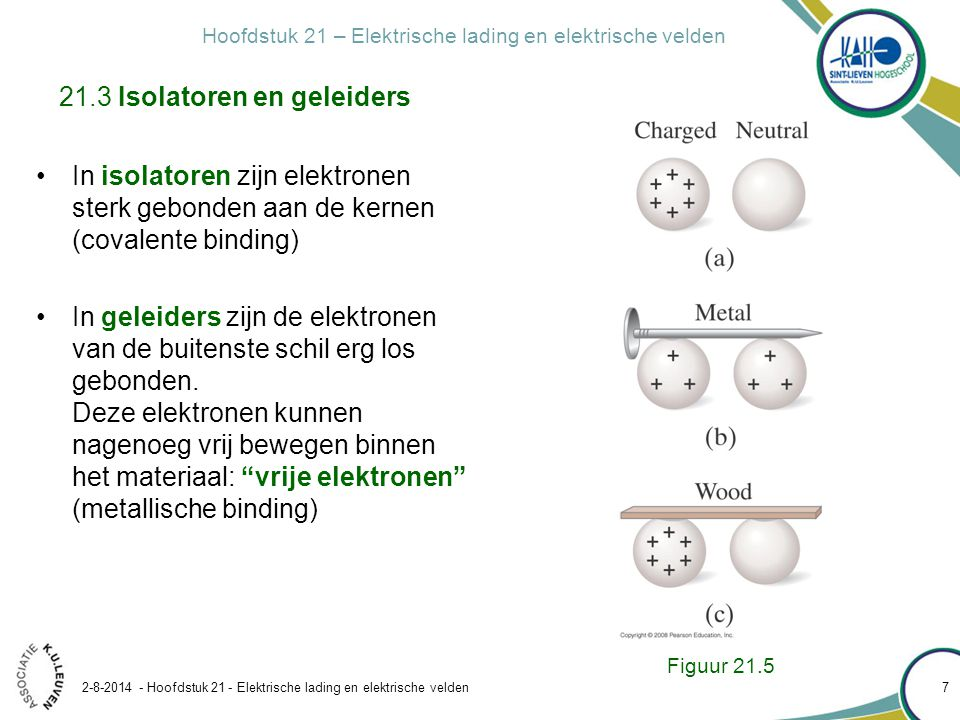 Hoofdstuk 21 – Elektrische lading en elektrische velden 2-8-2014 - Hoofdstuk 21 - Elektrische lading en elektrische velden 18 Oplossing: teken de krachten in richting en zin eendimensionaal probleem: werk algebraïsch tegenover de x -as Figuur 21.16 21.5 De wet van Coulomb Voorbeeld 21.2: Drie ladingen op een rij (ééndimensionaal) Aanpak: via superpositie Bereken in figuur 21.17 de kracht op Q 3.