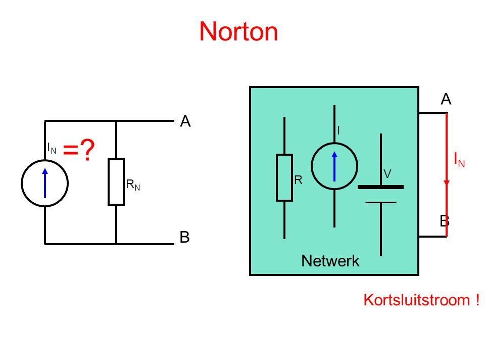 Norton ININ RNRN A B R I V A B Netwerk =? ININ Kortsluitstroom !