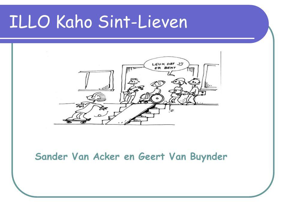 Sander Van Acker en Geert Van Buynder ILLO Kaho Sint-Lieven