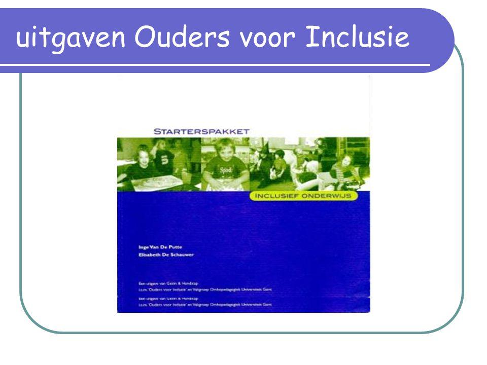uitgaven Ouders voor Inclusie