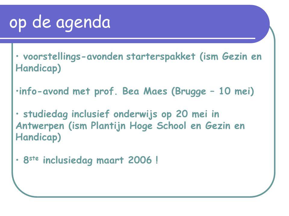 voorstellings-avonden starterspakket (ism Gezin en Handicap) info-avond met prof.