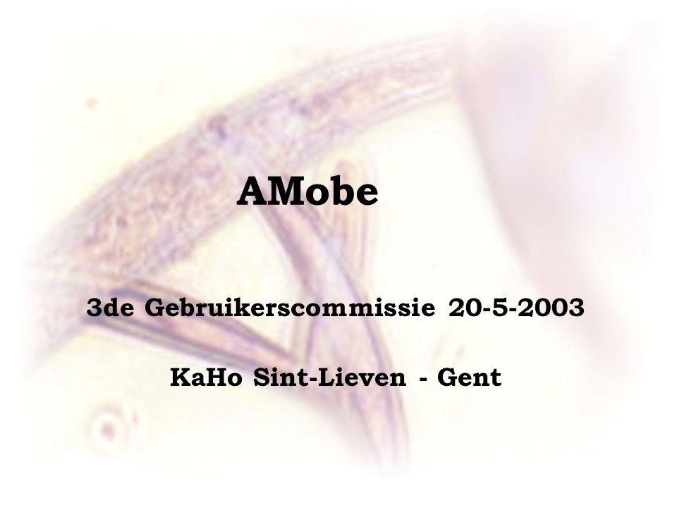 AMobe 3de Gebruikerscommissie 20-5-2003 KaHo Sint-Lieven - Gent