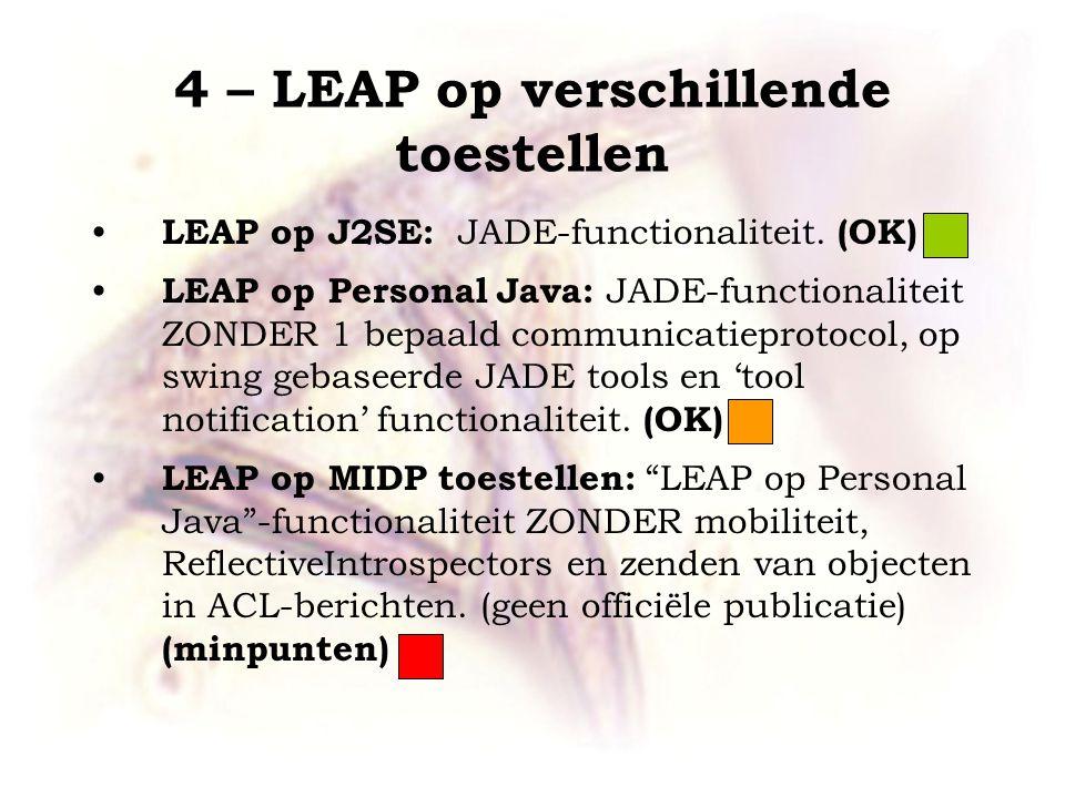 LEAP op J2SE: JADE-functionaliteit.