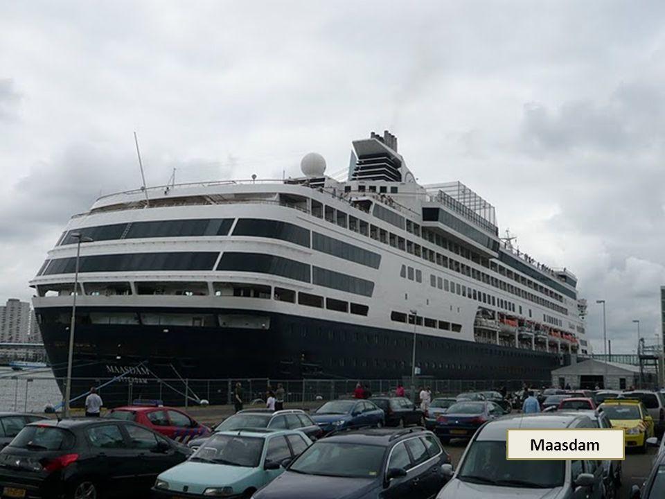 MS MAASDAM Bouwjaar 1993 Lang 220 m Breed 31 m Bemanning 580 Passagiers 1258 Snelheid 22 knp