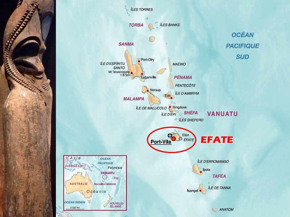 Vanuatu is een Zuid-Pacific archipel van vulkanische oorsprong, gelegen op 1,750 km ten oosten van Australië, 500 km ten noord-oosten van Nieuw- Caled