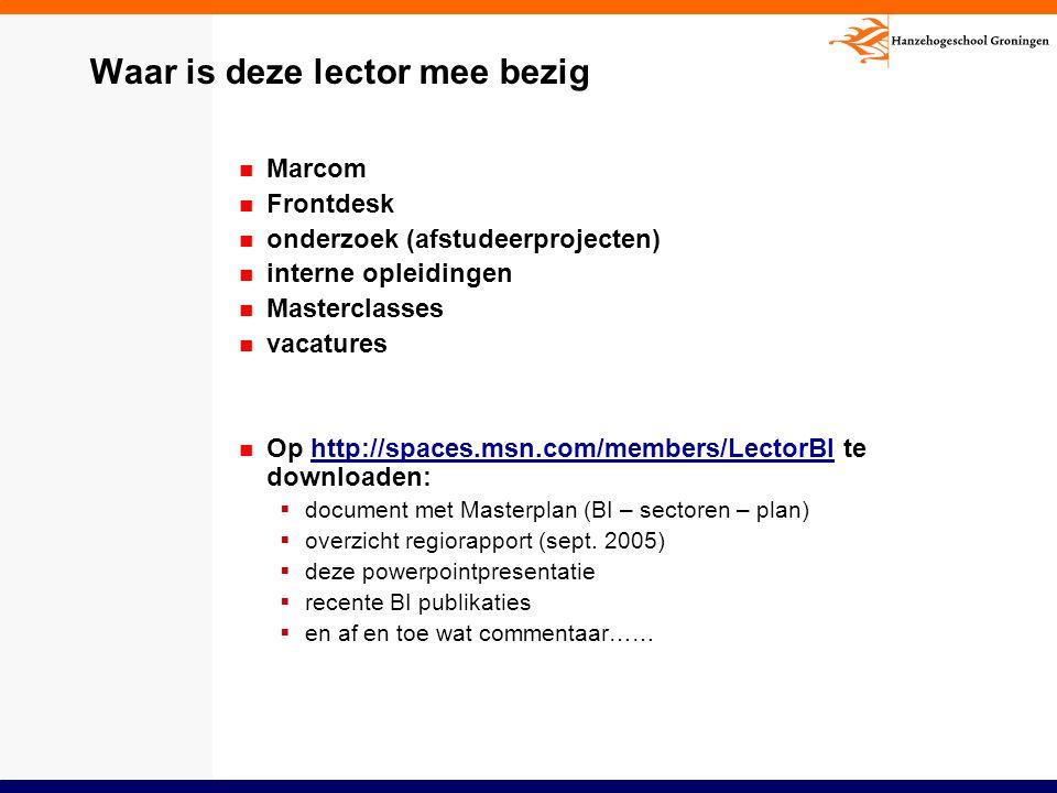 Waar is deze lector mee bezig Marcom Frontdesk onderzoek (afstudeerprojecten) interne opleidingen Masterclasses vacatures Op http://spaces.msn.com/mem