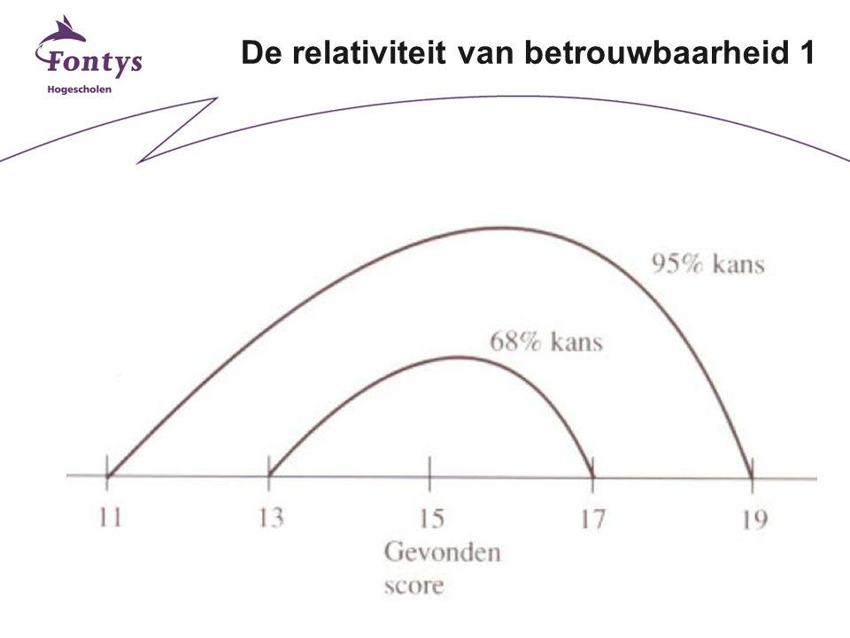 5 De relativiteit van betrouwbaarheid 1