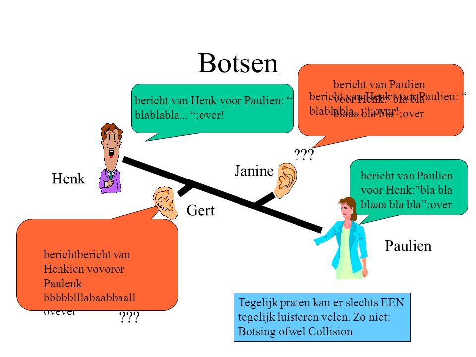 Botsen bericht van Henk voor Paulien: blablabla...