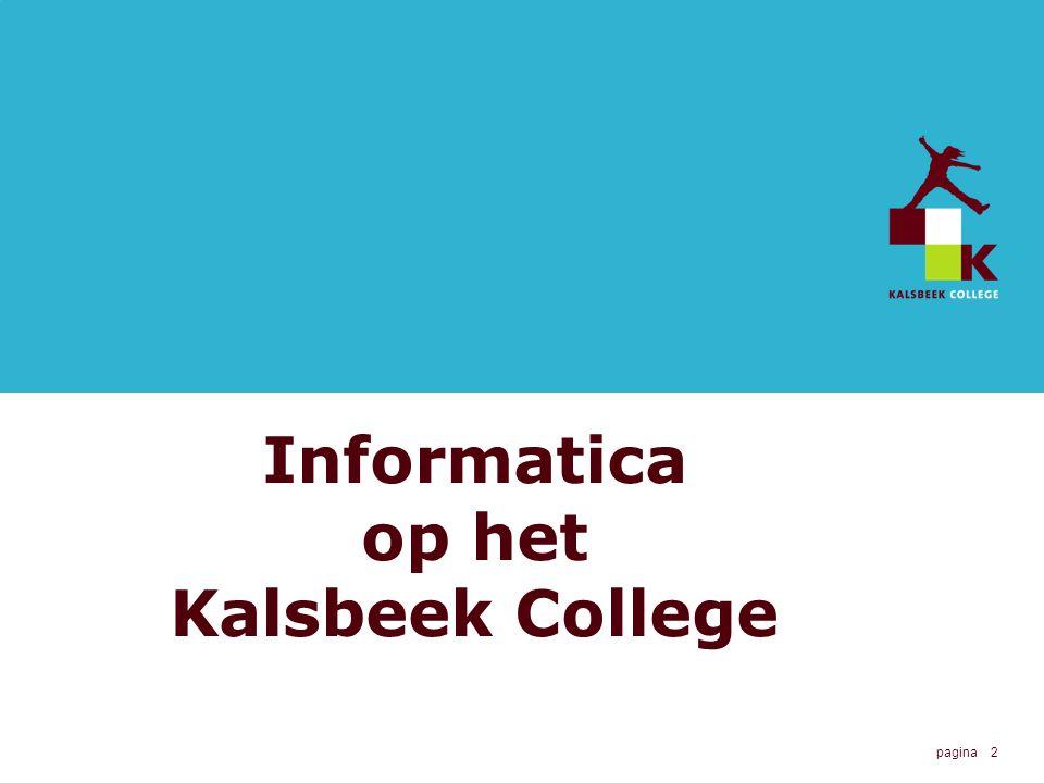 2 Informatica op het Kalsbeek College