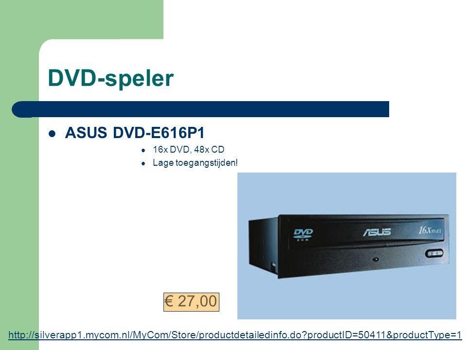 Videokaart ASUS AX800 XT/TVD, 256 MB Gèèn Nvidia; ATI is veelbelovender op toekomstgebied; ondersteund nieuwste technieken 256 MB videogeheugen Asus;