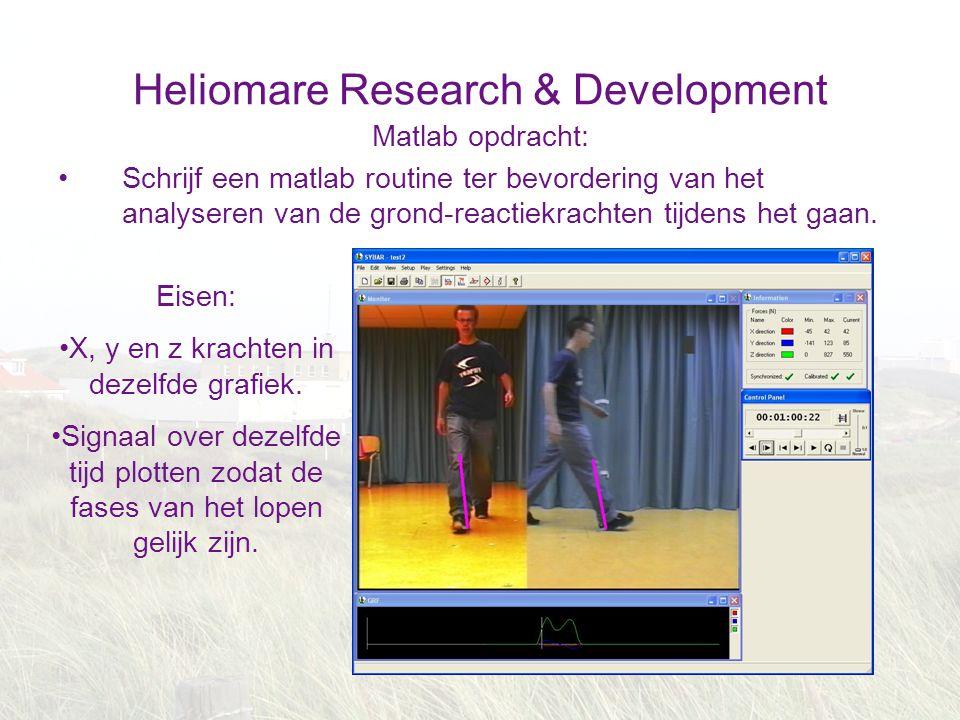 Heliomare Research & Development Matlab opdracht: Schrijf een matlab routine ter bevordering van het analyseren van de grond-reactiekrachten tijdens h