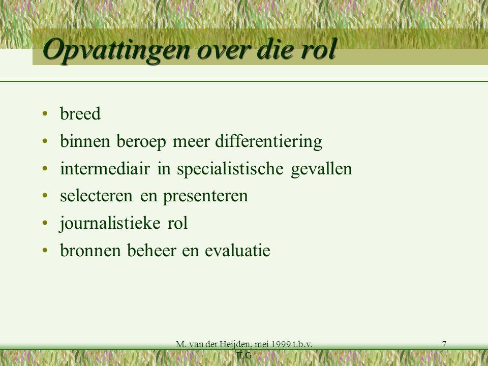 M. van der Heijden, mei 1999 t.b.v.