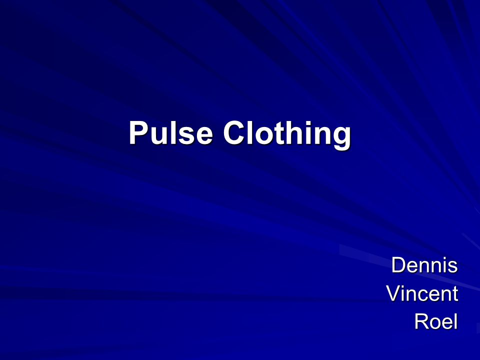 Pulse Clothing DennisVincentRoel