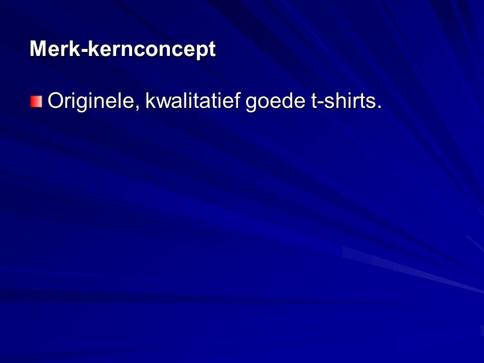 Merk-kernconcept Originele, kwalitatief goede t-shirts.