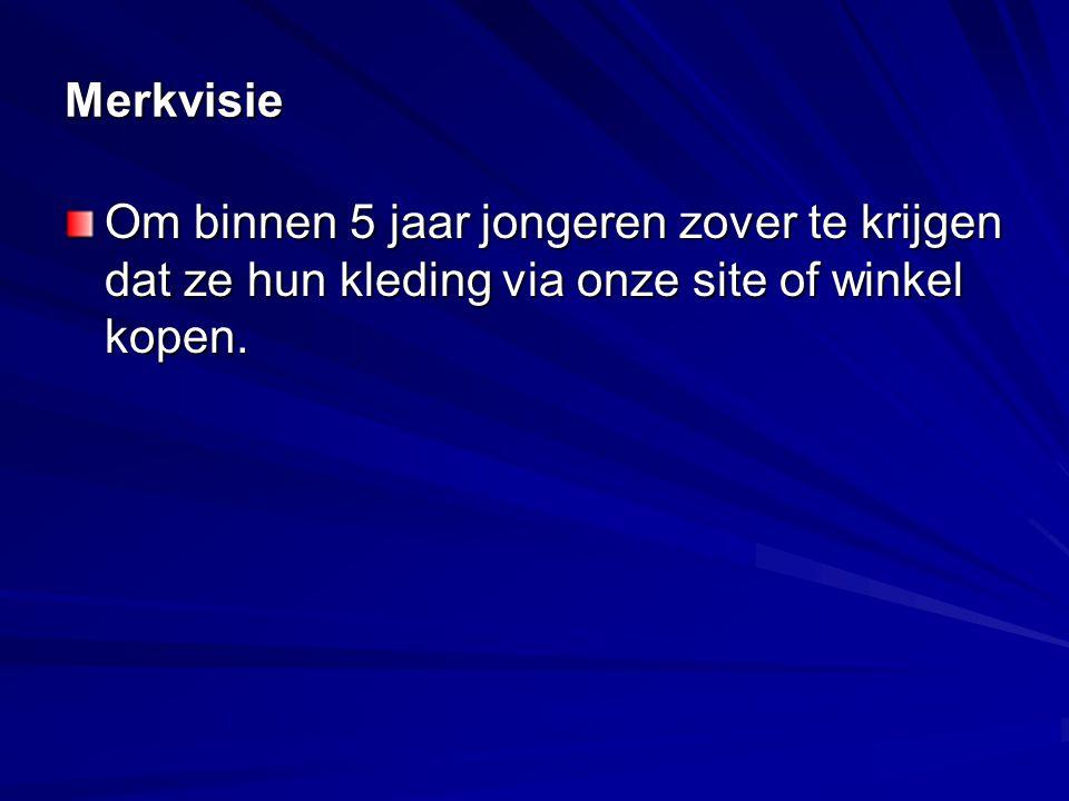 Merkmissie Om humoristische, kwalitatief hoogwaardige kleding op de markt te zetten en te verkopen.