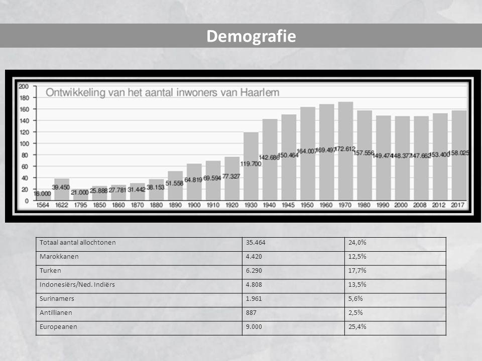 Demografie Totaal aantal allochtonen35.46424,0% Marokkanen4.42012,5% Turken6.29017,7% Indonesiërs/Ned. Indiërs4.80813,5% Surinamers1.9615,6% Antillian