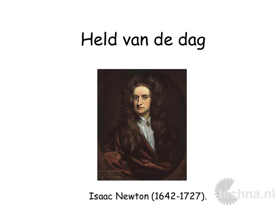 Isaac Newton (1642-1727). Held van de dag