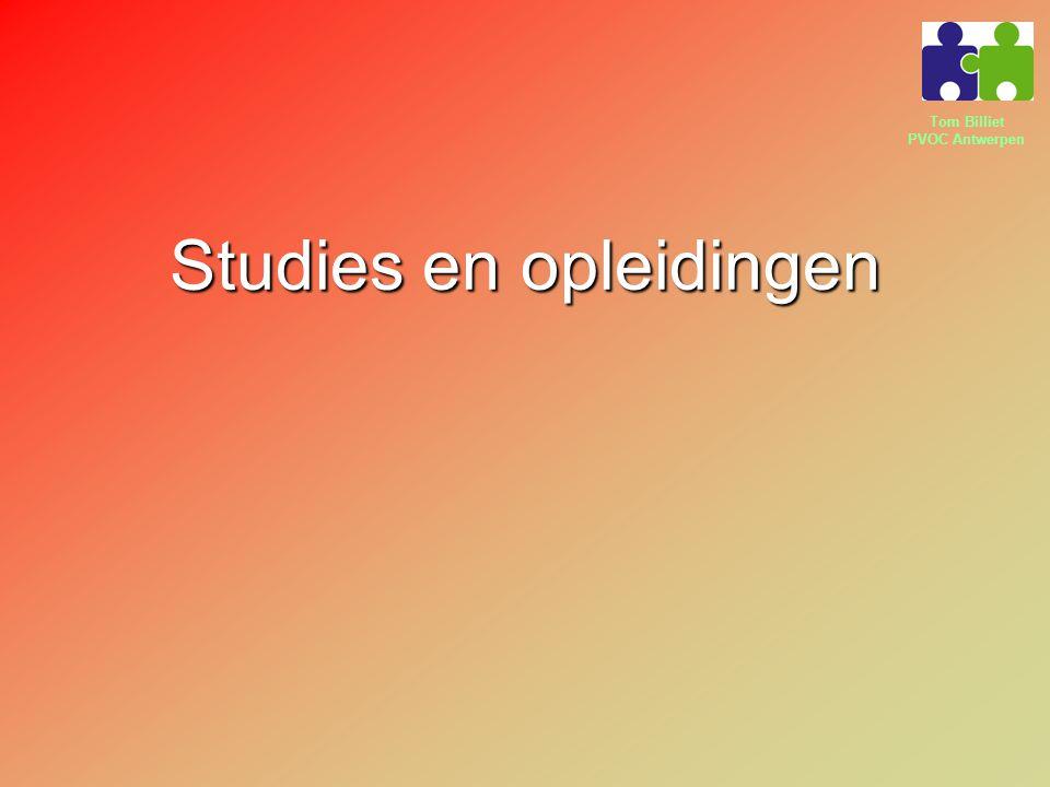 Tom Billiet PVOC Antwerpen Studies en opleidingen