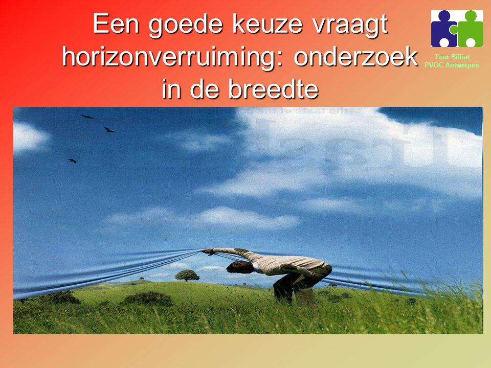Tom Billiet PVOC Antwerpen Een goede keuze vraagt horizonverruiming: onderzoek in de breedte