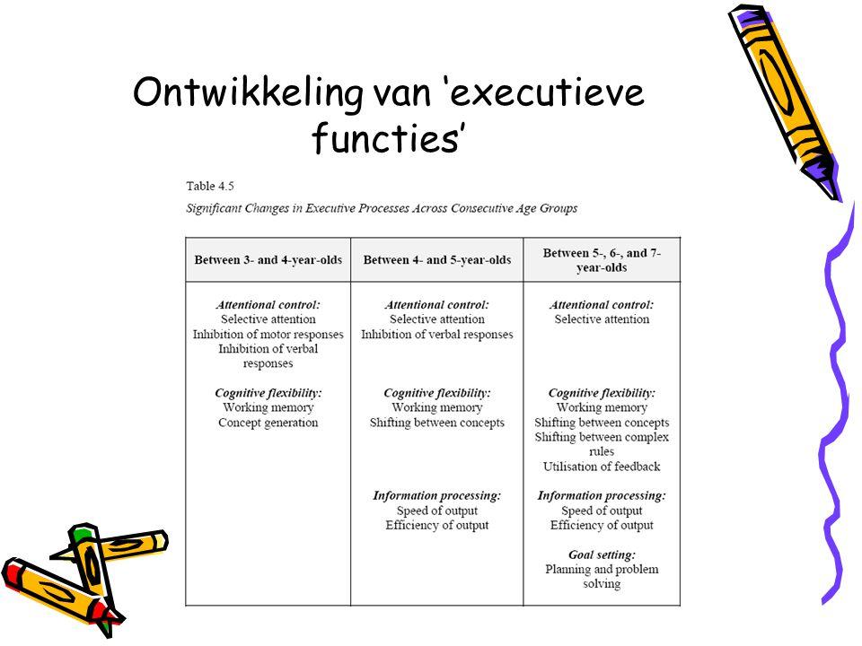 Ontwikkeling van 'executieve functies'