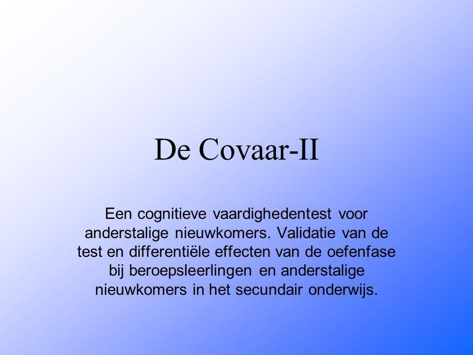 De Covaar-II Een cognitieve vaardighedentest voor anderstalige nieuwkomers.