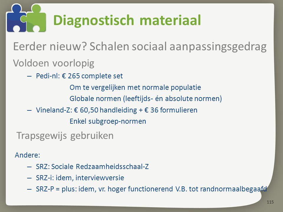115 Diagnostisch materiaal Eerder nieuw.