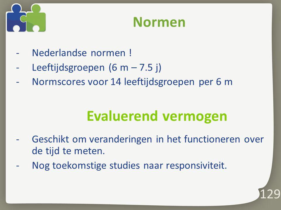 129 Normen -Nederlandse normen .