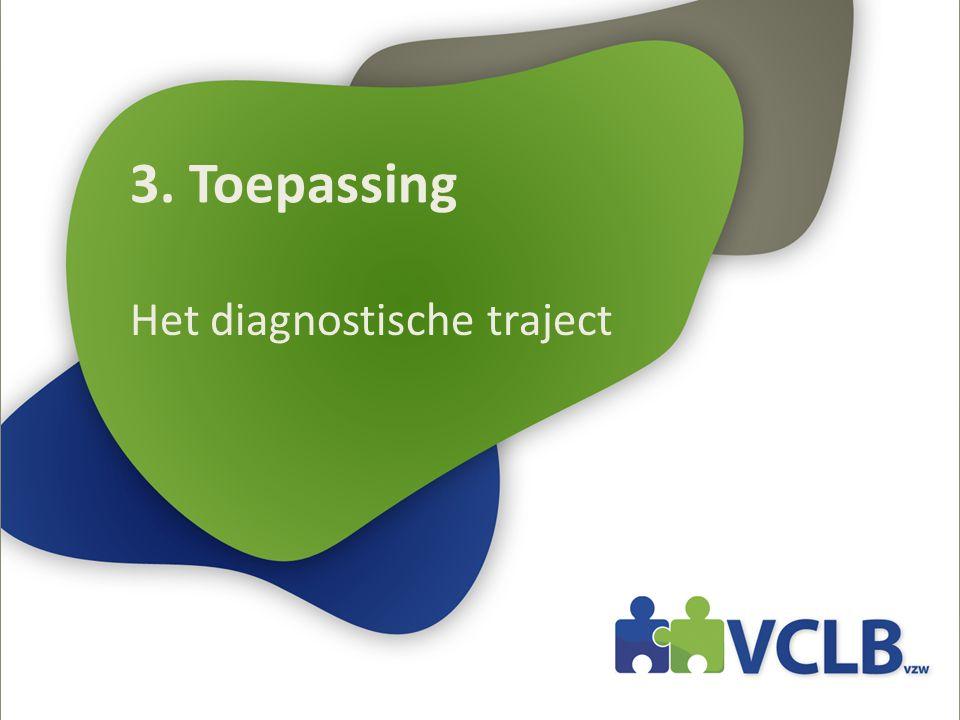 3. Toepassing Het diagnostische traject